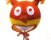 Owl Hat size 1 newborn