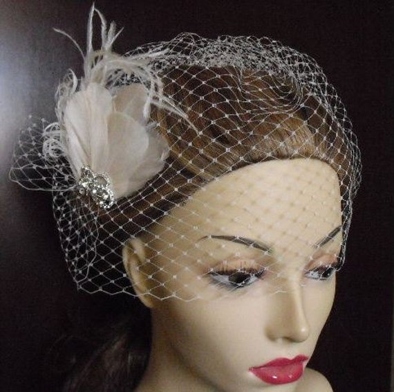 Birdcage Veil, Bubble veil, French Netting Style VB002