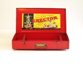 1938 Erector Set Metal Case 7 1/2 Engineer's Set - lakesidecottage