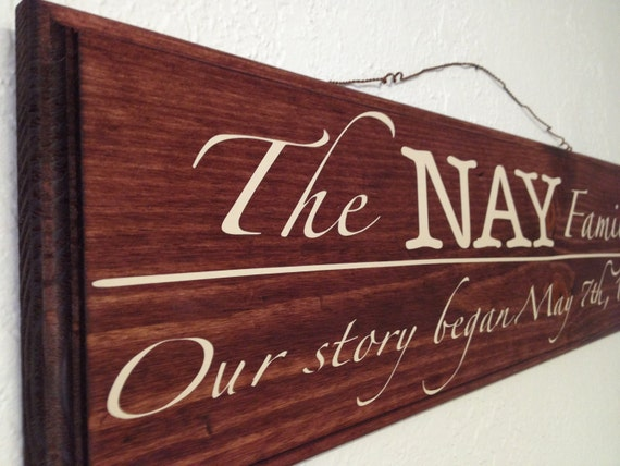 Custom Wood -- Last Name Board