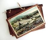 Gettysburg Postcard Album Wood 8 Postcards