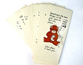 Teddygram Friendship Birthday Cards Set of 11 1986