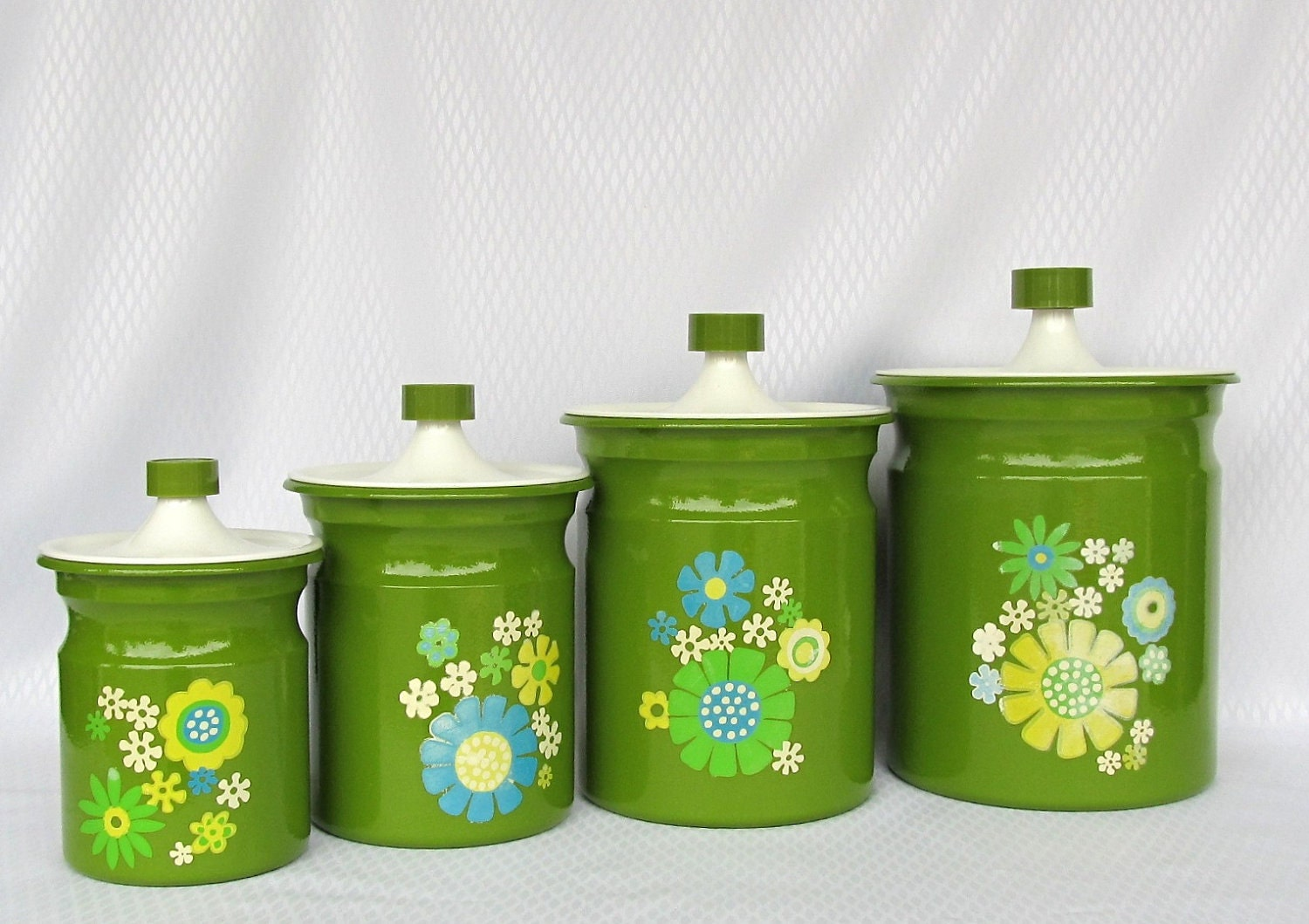 green kitchen canisters canister set lime green by tya miniatures pinterest