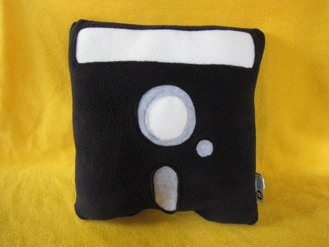 Floppy Disk Pillow 51/4 Inch Geek Chic Home by freakyfleece