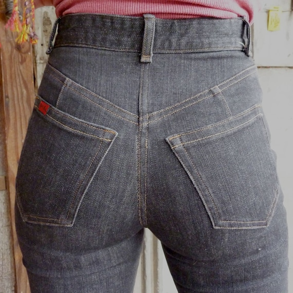 custom made jeans from american made cotton in grey