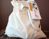 Natural Cotton Drawstring Bag - Use with ABShoppe Bean Bags Sets - ABShoppe