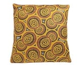 African Wax Print Pillow Cover (Ketchazo Goldenrod)