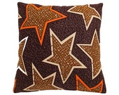 African Wax Print Pillow Cover (Assane Brown)