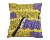 African Wax Print Pillow Cover (Raffy Natural)