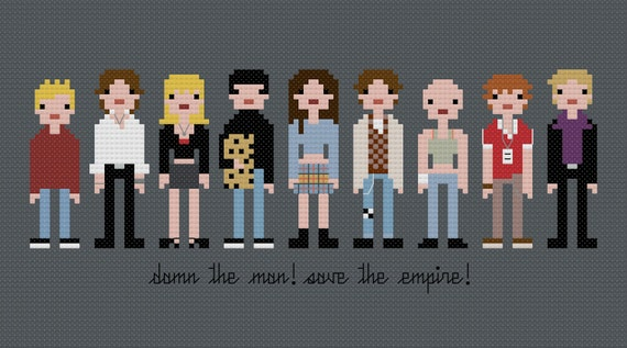 Pixel People - Empire Records - PDF Cross-stitch PATTERN