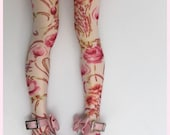 Floral high stockings for unoa and minifee