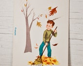 Fall Autumn Leaves Antique Paper Illustration - goodmerchants