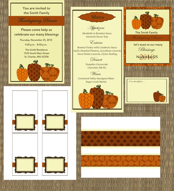 DIY Thanksgiving Dinner Party Package