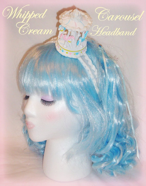 Sweet Whipped Cream Carousel Headband