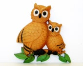 Homco Owl Set Wall Hang - TheVintageGiftCloset