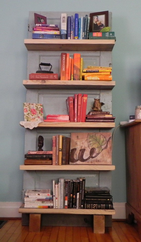 Wilbur - Antique Door Bookshelf (FREE SHIPPING)
