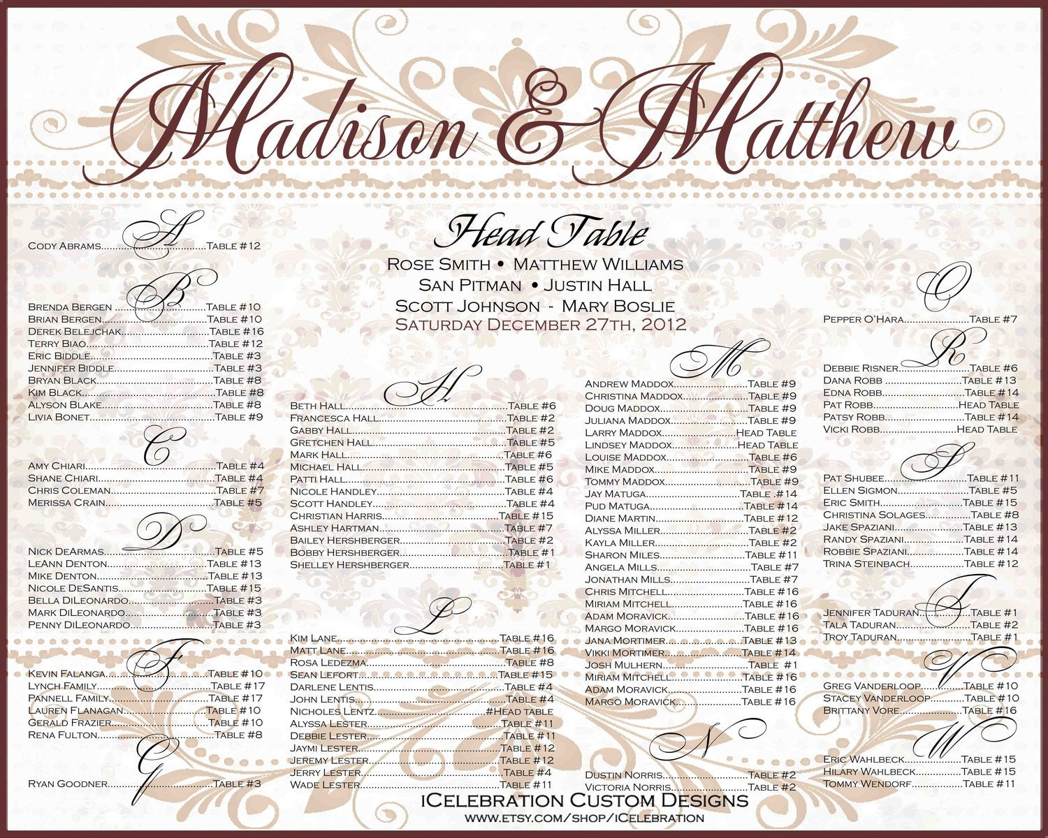 Doc570413 Seating Chart Poster Template Wedding Seating Chart – Free Seating Chart Template for Wedding Reception