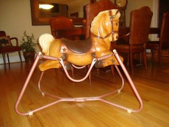 jerseyroad on etsy antique wonder horse vintage spring horse