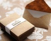 Handmade mini kraft paper envelope, super cute. Set of 30
