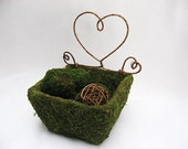 Square Moss Basket - Wedding Decoration, Woodland Wedding, Rustic Wedding - AntoArts