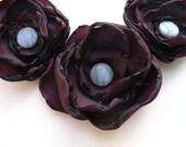 Poppy Statement Necklace in Purple, Plum, Amythest, Phlox - PrettyPigDesign