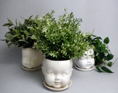 Porcelain Baby doll head planter /or candy dish - reshapestudio