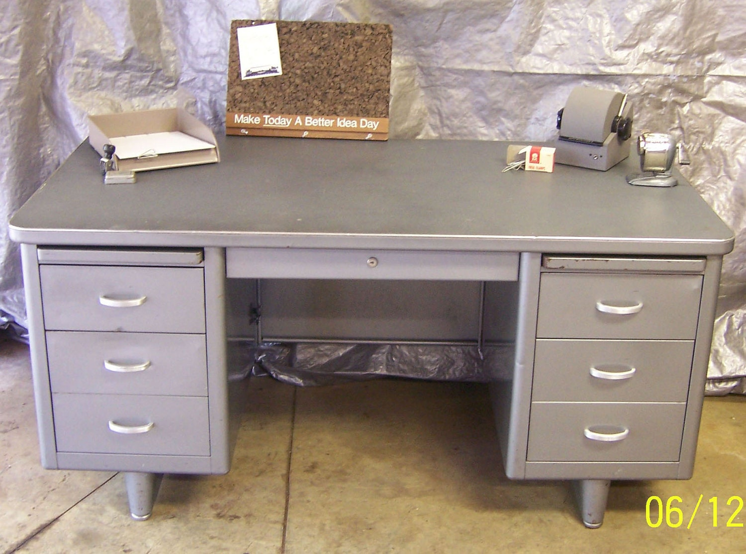 Uncategorized Vintage Steel Tanker Desk industrial metal desks archive page 2 the garage journal board