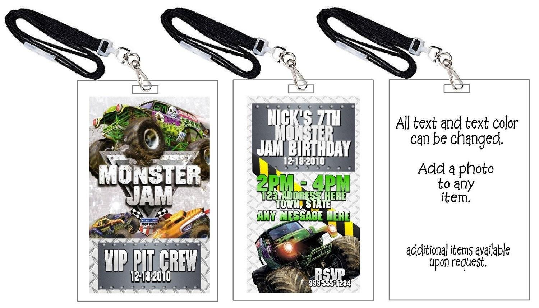 Similiar Monster Jam Ticket Invitation Template Keywords