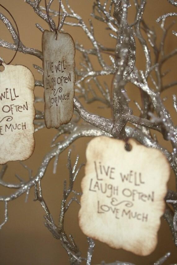 Wishing Tree - Guest Book Alternative - Centerpiece - Reception Decor