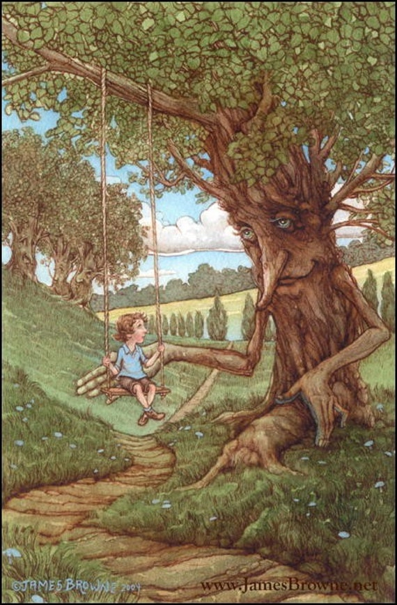 The Gent Tree 7x11 Giclee Print with Story