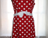 Vintage 1950s Suzy Perette Polka Dot Tunic/ Dress