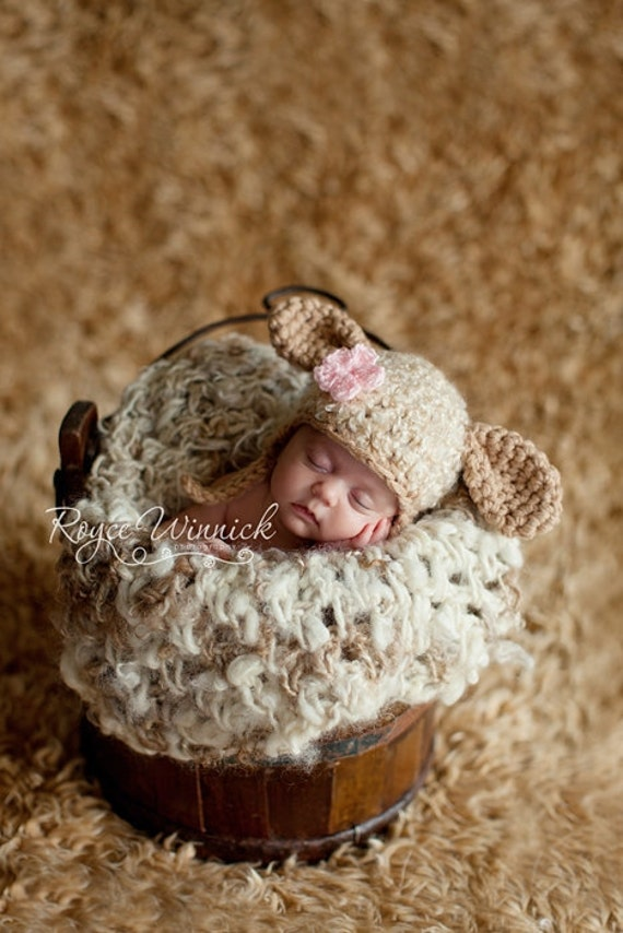 PDF Little Lamb CROCHET  PATTERN No 229 photo prop sizes preemie, newborn. 0-3, 3-6 months