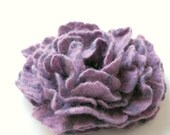 handmade felted flower brooch or hairpin purple  VIOLETTA  (made to order) - Patricija