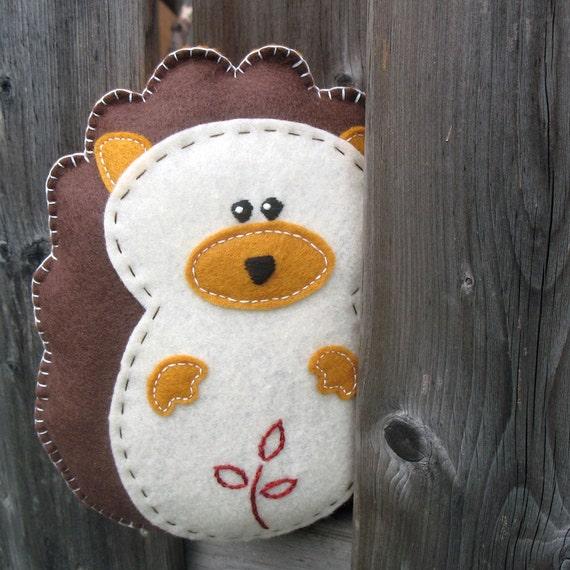 Stuffed Hedgehog PATTERN - Sew by Hand Plush Felt Stuffed Animal PDF - Easy to Make