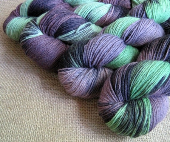 Maleficent - Superwash Merino & Nylon Sock Fingering Yarn - Hand Dyed - 462 yards