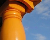 Gigantic Orange Table Leg - Fine Art Photography - Abstract Photography - PhotosByJudy