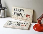 Custom London Street Signs Your Choice Of Street Postcode And Borough