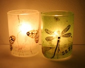 white green pink butterfly table centerpiece candleholder luminary with handmade paper - illuminera