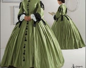 Womens Plus Size Civil War Gown or Dress Cosutme, Gone with the Wind, Reenactment Simplicity Pattern 2887 Sizes 16-18-20-22-24 . Uncut - MissBettysAttic
