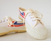 ORIGINAL Chinese Vintage White Canvas Sneakers - New, Unused - TheBIG8s