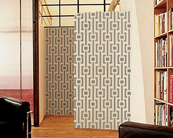 Wall STENCIL - MOD Pattern -Large, Reusable Modern Wall Stencil - Easy DIY Home Decor