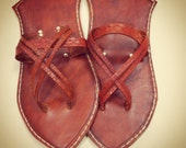 Stained Leather Sunna Sandals