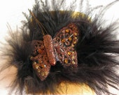 "Leather Bracelet, Cuff Bracelet, Leather Bracelets ""Feather"""