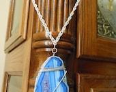 Blue Agate Chain Necklace - Dusk 2 Dawn by ChoklatTea