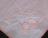 Beautiful Child's Hankie Monogrammed Hede - TotallyHankies