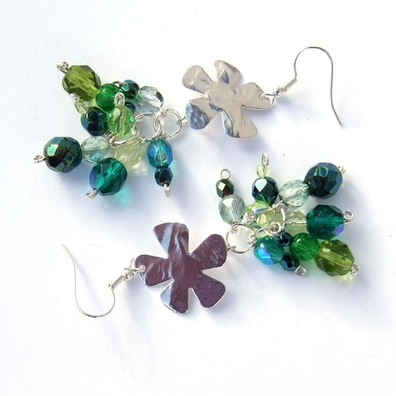 Spring Fever, a mix of green and silver, in glass and silver plated wire
