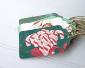 Eco-friendly Holiday Gift Tags, Candy Cane Christmas, Recycled Cards - NobleEarth