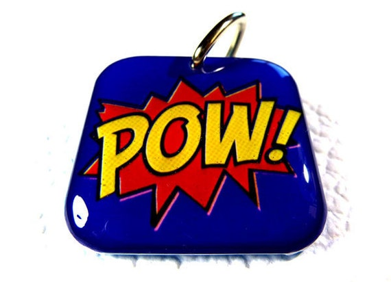 Pet Tags Super Hero Movie Cartoon Comic POW Tags by ID4Pet