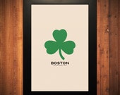"Boston Minimalist City Poster - 12"" x 18"" - FlyingJunction"