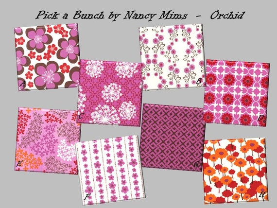 Custom Baby Crib Fitted Sheet - 100% Organic Cotton - Pick a Bunch by Nancy Mims in Orchid